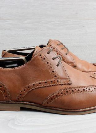 Кожаные мужские туфли / броги lambretta, размер 43