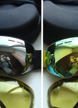 ЛЫЖНАЯ СНОУБОРДИЧЕСКАЯ МАСКА очки лижні окуляри горнолыжная лижна