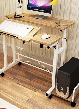 Стол для компьютера с регулируемой высотой создан для максимально