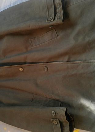 Фирменное мужское пальто-плащ Bruce&Borough,р.52,темносинее,тепло