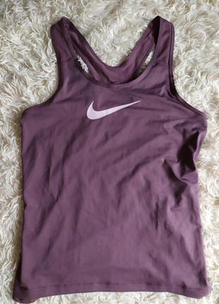 Майка лілова фіолетова спортивна dri-fit nike