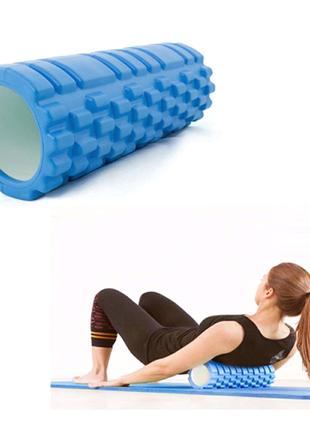 Массажный профилированный ролик для спины и йоги