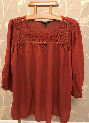 Нереально красивая и стильная брендовая блузка..100% вискоза.