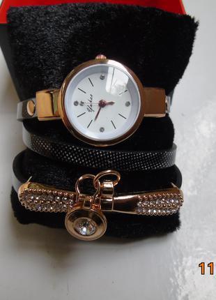 Женские часы-браслет тройной