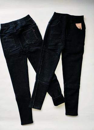 Теплые джинсы на девочку от 7-10 лет