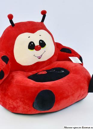 Детское мягкое кресло Божья коровка C 31196 красное