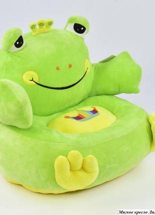 Детское мягкое кресло Лягушка C 31198 салатовая