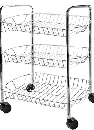 Этажерка кухонная на колесах 3 яруса