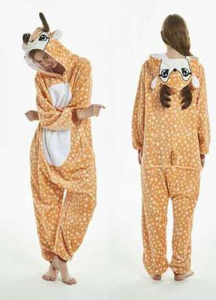 Пижама кигуруми олень