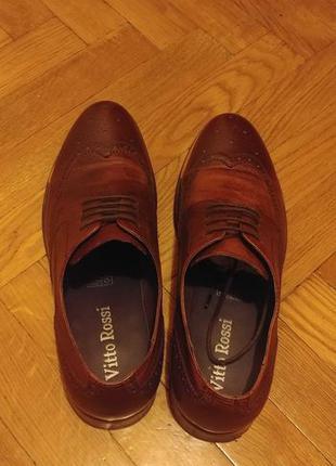 Мужские коричневые туфли (броги) Vitto Rossi