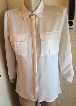 Стильная удлиненная белая блуза