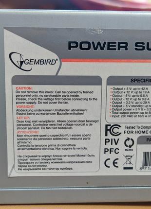 Блок питания для ПК Gembird CCC-PSU7 550W