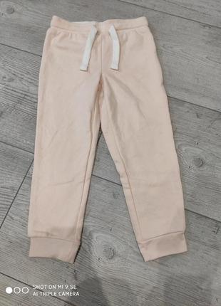 Спортивные штаны джоггеры утеплённые с начесом 98/104