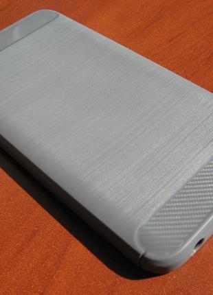 Чехол Xiaomi Redmi Note 5A под карбон серый