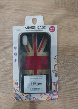 Чехол Sheng Glass Case (Great Britain) для iPhone X