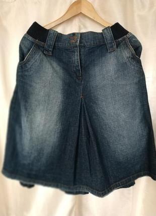 Джинсовая юбка тёмно-синего джинса