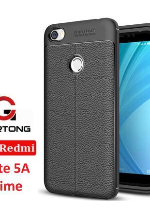 Чехол Xiaomi Redmi Note 5A Prime бампер под кожу черный