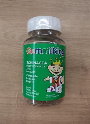 Gummiking, эхинацея с витамином С и цинком для детей, 60 таблеток