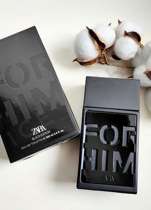 Zara for him black edition духи парфюмерия туалетная вода ориг...