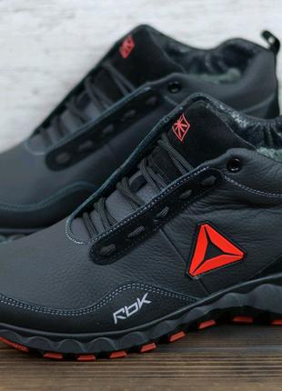 Мужские кожаные зимние ботинки Reebok, ботинки
