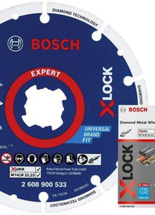 Круг отрезной алмазный  по металлу 125x22,23 мм X-Lock//Bosch