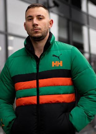 Зимний пуховик helly hansen x puma черный куртка