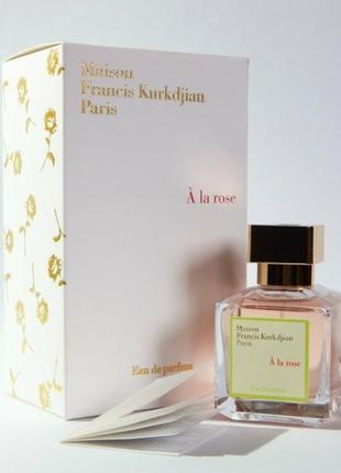 Maison francis kurkdjian à la rose парфюмированная вода edp 10...