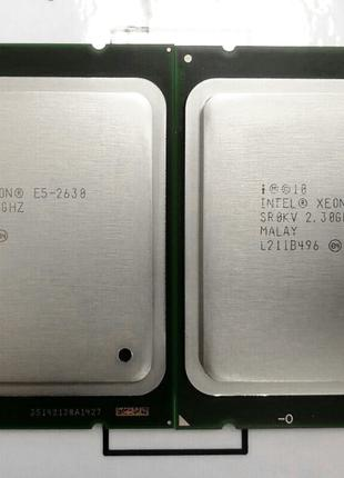Пара Intel® Xeon® E5-2630 6-Core 2.3-2.8GHz 15MB Cache LGA 2011
