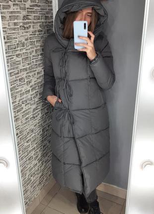 Длинное зимнее пальто пуховик🔥 матрац