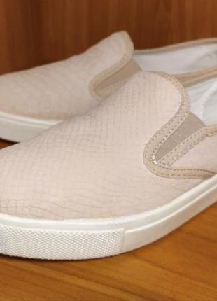 Туфли, слипоны, мокасины пудрового цвета
