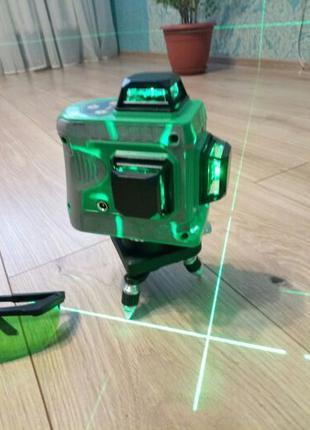 Лазерный уровень нивелир Hilda 3D 12 линий