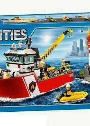 Конструктор детский Bela 10830 Аналог Lego City 60109 Пожарный...