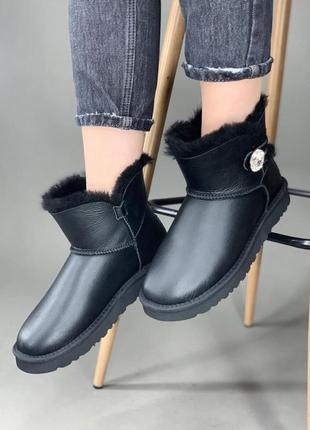 Ugg mini bailey button swarowski black 🆕 шикарные женские угги...