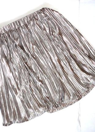 Нарядная юбка плиссе 12-14 лет h&m   (т.58-90, дл.44)