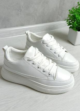 Кроссовки кроссы криперы белые