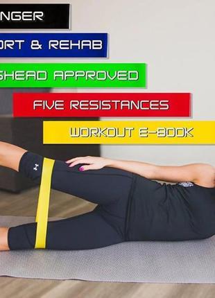 Набор фитнес резинок, резинок для фитнеса 5 шт UKC 0006 PRO