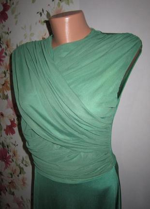 Приталенное платье драпировка ассиметричная юбка