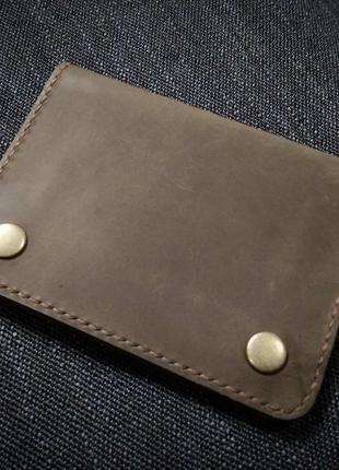 Кожаный портмоне органайзер ручной работы