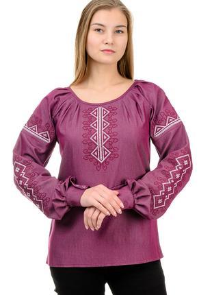 Женственная блуза- вышиванка стильная модная модель.
