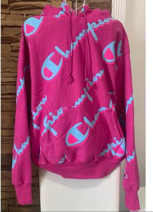 Худі Champion logo-print hoodie, Purple [XL]