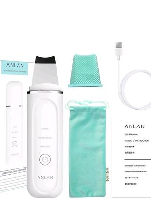 Ультразвуковой скрабер ANLAN 45 ° аппарат для чистки пор лица