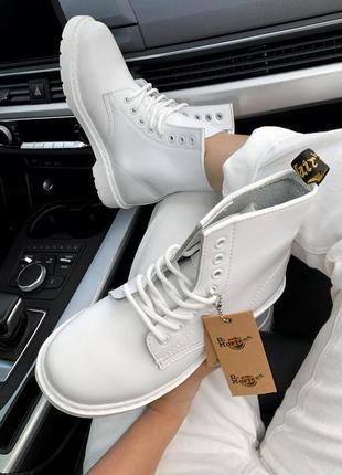 Топовые ботинки на шнурках, натуральная кожа