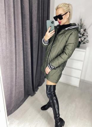 Куртка хаки с манжетами