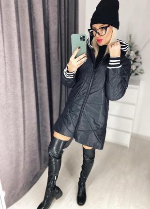 Удлиненная куртка с манжетами