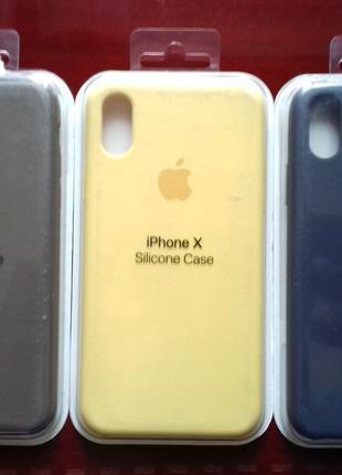 Чехол На Айфон Apple Silicone Case Для IPhone X Разных Цветов