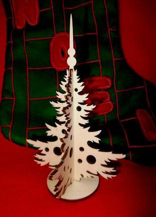 Новогодний декор елка 3d из дерева эко декор ручная работа