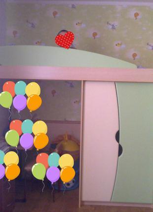 Детская кровать-горка + лестница-комод