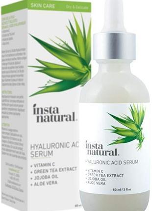 Гиалуроновая кислота InstaNatural увлажняющая сыворотка для лица