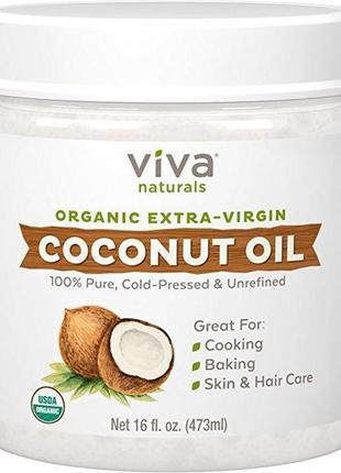 Кокосовое масло органическое Viva Naturals Organic Extra Virgi...