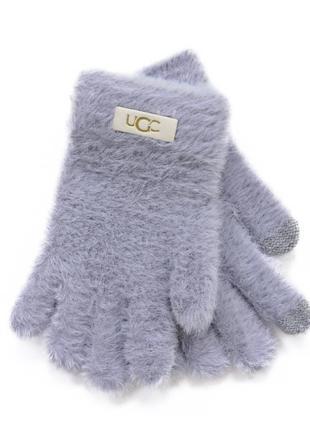 """Детские перчатки """"fur"""" светло-серые"""